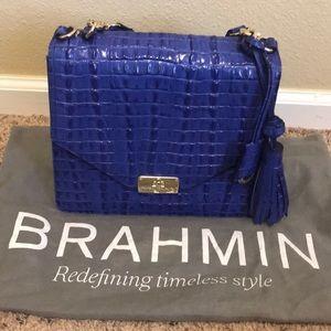 Cobalt blue Brahmin bag